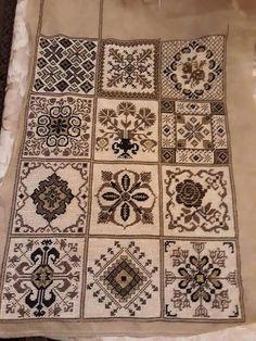 Cross Stitch Flowers, Cross Stitch Patterns, Cross Stitching, Embroidery, Quilts, Blanket, Autumn Fashion, Happy, Needlepoint