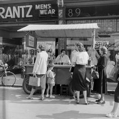Jim Croney's Fruit and drink stall, Chapel Street Market 1955
