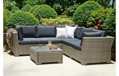 The Manchester Modular Sofa Set is great if you have a small area to play with. As this is a compact rattan sofa set, it has the potential to inflict a state tranquillity throughout all of the people who decide to lounge on this sofa set. Rattan Furniture Uk, Pallet Garden Furniture, Corner Furniture, Rattan Sofa, Lounge Furniture, Outdoor Furniture, Corner Sofa With Cushions, Rattan Corner Sofa Set, Modular Corner Sofa