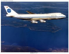 Pan Am, Boeing 747, over water