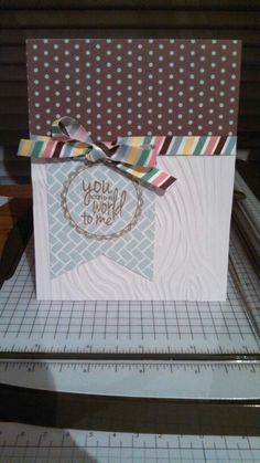 This is a card I made using Lawn Fawn Dewey Decimal paper and a Sizzix Word Label stamp. My sentiment is crooked but oh well. It happens! Haha!