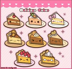 Kawaii_Cake_Slices_by_A_Little_Kitty.png (550×533)
