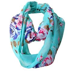 Sexyinlife Multicolor Floral Print Chiffon Infinity Loop ...
