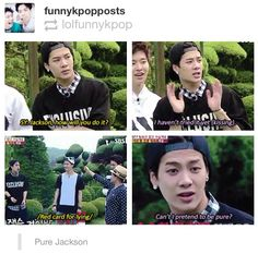 Oh goodness.. Ur titled the sexy member of got7! No! You can not b pure! #koreantv