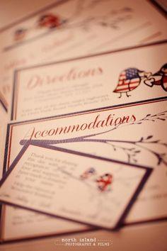 International love details for the loved bird themed wedding!