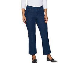 Isaac Mizrahi Live! 24/7 Denim Regular Flare Ankle Jeans