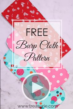 Burp Cloth Patterns, Free Baby Patterns, Sewing Patterns Free, Pattern Sewing, Sewing Baby Clothes, Baby Clothes Patterns, Barbie Clothes, Diy Clothes, Dress Patterns