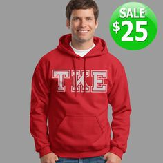 Fraternity Hooded Sweatshirt - $25 Sale #somethinggreek #anniversary #fraternity #sorority #apparel