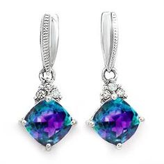 Alexanderite. Personalize Your Color Stone Earrings. $227.55