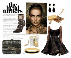 """""""Black and gold"""" by colonae ❤ liked on Polyvore featuring Judith Leiber, Dennis Basso, Halcyon Days and Godiva"""