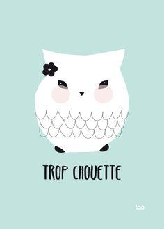 cute owl lady ////// trop chouette en exclu pour http://lespetitesmerveilles.bigcartel.com/