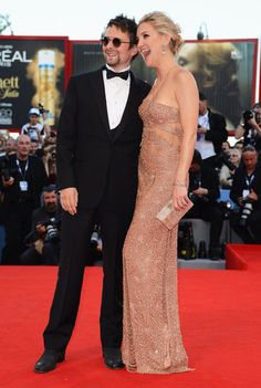 Kate Hudson looks SO happy at the Venice Film Festival with her man!