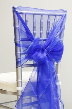 Snow Organza Chair Caps/Hoods - See my ♥♥ WEDDING ATMOSPHERE for video on how to do this.