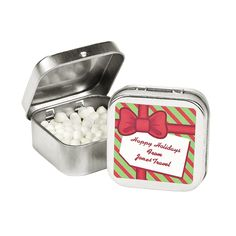 Personalized Christmas Mint Tins - OrientalTrading.com