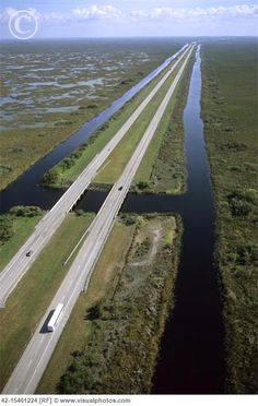 Alligator Alley Highway Connecting the East Coast (Fort Lauderdale) to West Coast (Naples)