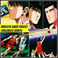 Energetic and on fire Kaede Rukawa fiercely challenges his rival Akira Sendoh Inoue Takehiko, Anime Rules, Slam Dunk, Basketball Players, Akira, Challenges, Japan, Movie Posters, Sd