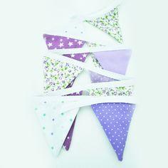 Mini banderines lila blanco y violeta