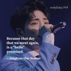 """종현 Quotes 🌙♡' on Instagram: """"eng » esp ↺ . ❁ solicitud. @ab.ril.948 __________♡__________ #quotesjjong #frasesjjong"""" Sad Quotes, Best Quotes, Life Quotes, Inspirational Quotes, Music Quotes, Korean Drama Quotes, Kdrama Memes, Shinee Jonghyun, Everything Will Be Alright"""