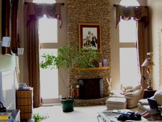 Tall Arched Window Treatments design idea as seen on www.interiordesignpro.org