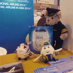 #Peluches de Bangkok Airways en #FITUR2015 :) #softtoys #aviones #planes #pelucheando