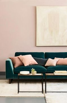 55 Comfy Sofa Design Ideas For Your Living Room 2019 Cool 55 Comfy Sofa Design Ideas For Your Living Room. The post 55 Comfy Sofa Design Ideas For Your Living Room 2019 appeared first on Sofa ideas. Living Room Green, New Living Room, My New Room, Interior Design Living Room, Living Room Designs, Blue Velvet Sofa Living Room, Living Room Wall Colours, Dark Grey Sofa Living Room Ideas, Living Room 2 Sofas