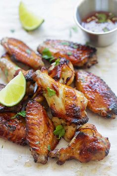 Sweet Thai Chicken Wings - perfectly grilled chicken wings with sweet Thai seasonings. Crazy delicious wings you can't stop eating   rasamalaysia.com