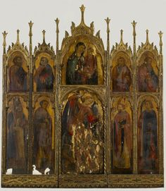 Antonio Vivarini - Madonna e il Bambino con Santi - 1440 ca. - Walters Art Museum, Baltimora