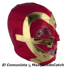 "Mask ""El Comunista"" #design #luchalibre #maskedwrestlers"