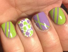 Stripes & dots.. Love the color combo!