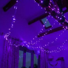 Browse outdoor fairy lights from Hang high overhead or wrap in trees, our lights come in small and long lengths. Grunge Bedroom, Neon Bedroom, Purple Bedroom Decor, Warm Bedroom, Blue Fairy Lights, Outdoor Fairy Lights, Emo Room, Galaxy Room, Purple Rooms