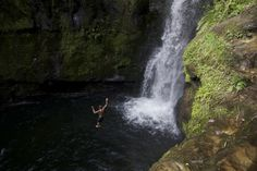 Cliff Jumping In New Zealand, Te Puke, Bay of Plenty. Travel.