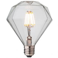 diamond shaped LED filament light bulb