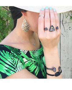 Rachel Double Ring in Colorful Cabana - Kendra Scott Jewelry Clip On Earrings, Drop Earrings, Double Ring, Kendra Scott Jewelry, Fashion Tips, Fashion Design, Fashion Trends, Fashion Inspiration, Passion For Fashion