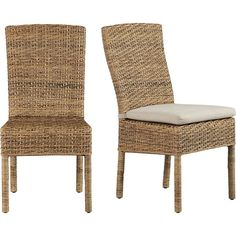 Tigris Side Chair and Natural Cushion in Dining Chairs | Crate and Barrel  For AC table/living room