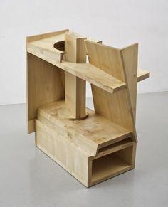 "Anthony Caro - ""Honey Suckle"" {2011/2012}; beech wood, 101 x 92 x 46.5 cm"