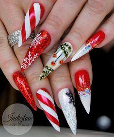 Beautiful Nail Designs for Christmas - Naija's Daily Best Nail Art Designs, Colorful Nail Designs, Simple Nail Designs, Beautiful Nail Designs, Cute Christmas Nails, Christmas Nail Designs, Holiday Nails, Christmas Design, Xmas