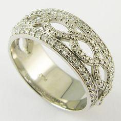 One fascinating ornate diamond platinum band.