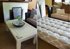 DIY Project: How To Turn A Coffee Table Into An Ottoman
