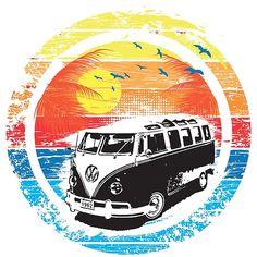 VW Kombi Sunset Design
