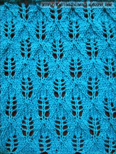Fern Lace Knitting Stitch: Super easy explanation!