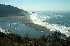 Klamath River Overlook perched 650 feet above the Pacific Ocean - whale watching at the mouth of the Klamath River, where freshwater merges with seawater...