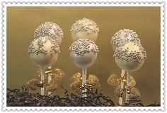 Wedding anniversary gold luster-dusted with silver nonpareils
