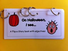Chit Chat and Small Talk: Halloween Flip Book for Adjectives