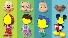 Wrong Face Masha Doc McStuffins Bubble Guppies Mickey Mouse Finger Famil...