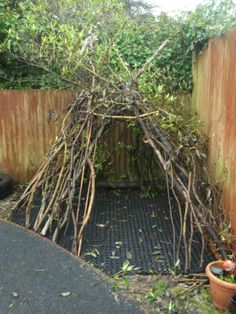 Group project - stick tee-pee. Get children to bring sticks and from walks or bits from home garden pruning :)