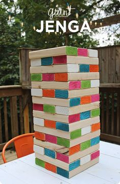 Gift Ideas for Dad #3: Giant Outdoor Jenga Game