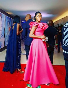 Nollywood top actress Stephanie Linus Okereke looks adorable in her new outfit as she heads to most beautiful girl in Nigeria event Latest African Fashion Dresses, African Print Fashion, Mom Dress, Dress Long, Nigerian Lace Styles, Celebrity Inspired Dresses, Inspirational Celebrities, Fashion Line, Women's Fashion