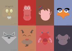 Disney sidekicks minimalist poster