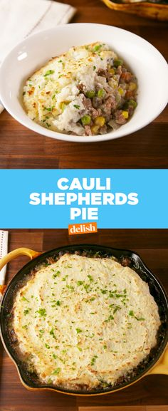 Selecting The Suitable Cheeses To Go Together With Your Oregon Wine This Shepherd's Pie Has A Low-Carb Secret. Get The Recipe At Meat Recipes, Low Carb Recipes, Cooking Recipes, Healthy Recipes, Beef Recepies, Recipies, Lunch Recipes, Healthy Eats, Chicken Recipes