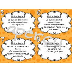 L'Halloween - Cartes à tâches - Qui suis-je? Halloween, French, Teaching, Cards, French People, French Language, Halloween Labels, Early French, Spooky Halloween